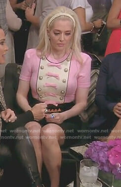 Erika's pink and black bow detail dress on The Real Housewives of Beverly Hills