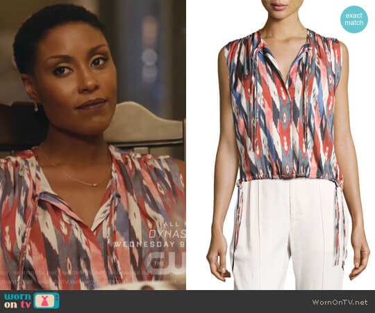 Hervey Sleeveless Drawstring Top by Etoile Isabel Marant worn by Christine Adams on Black Lightning