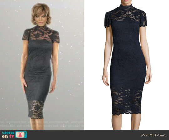 Flynn Lace Dress by Ganni worn by Lisa Rinna  on The Real Housewives of Beverly Hills
