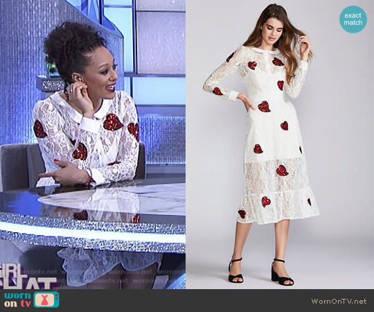 La Zosia Midi Dress by For Love and Lemons  worn by Tamera Mowry on The Real