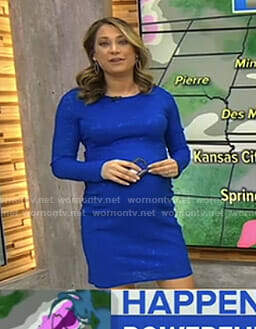 Ginger's blue long sleeve maternity dress on Good Morning America