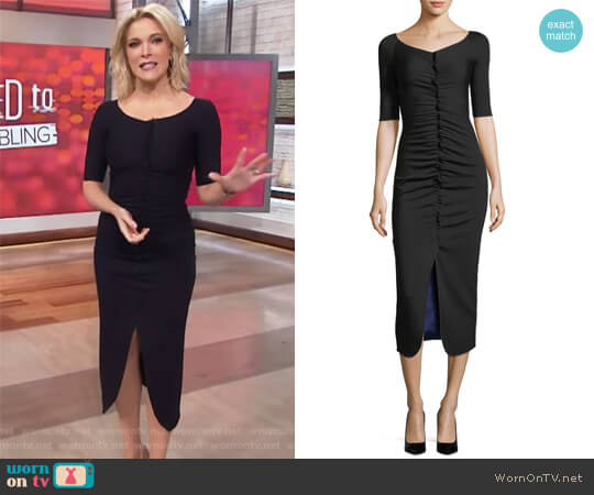 Ruched Jersey Midi Dress by Giorgio Armani worn by Megyn Kelly on Today
