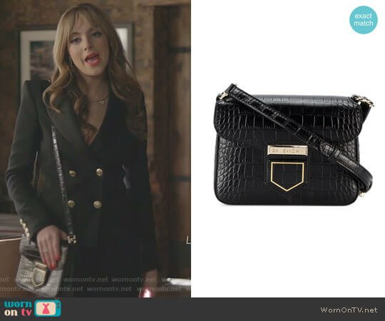 Croc Nobile Mini Crossbody Bag by Givenchy worn by Elizabeth Gillies on Dynasty
