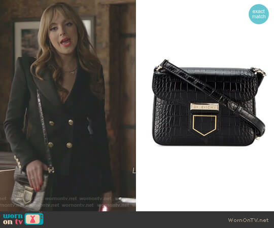 Croc Nobile Mini Crossbody Bag by Givenchy worn by Fallon Carrington (Elizabeth Gillies) on Dynasty