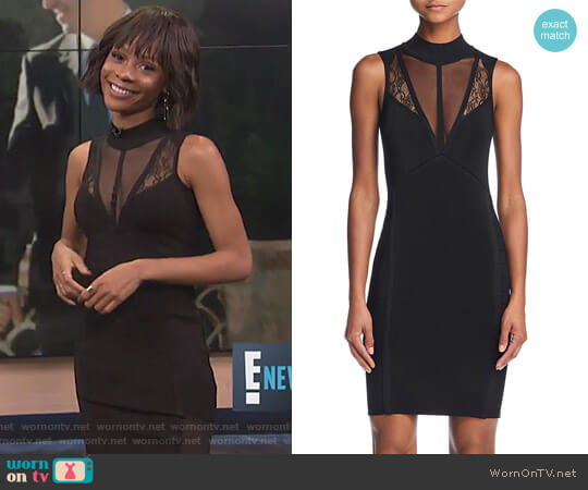 Julie Inset Body-Con Dress by Guess worn by Zuri Hall on E! News