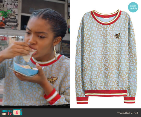 Glittery Top by H&M worn by Yara Shahidi on Grown-ish