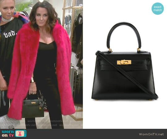 Mini Kelly Bag by Hermes Vintage worn by Kyle Richards  on The Real Housewives of Beverly Hills