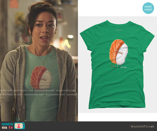 Sushi Hug Tee by Design By Humans worn by Aimee Garcia on Lucifer