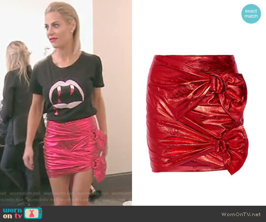 Doll metallic Mini Skirt by Isabel Marant worn by Dorit Kemsley  on The Real Housewives of Beverly Hills