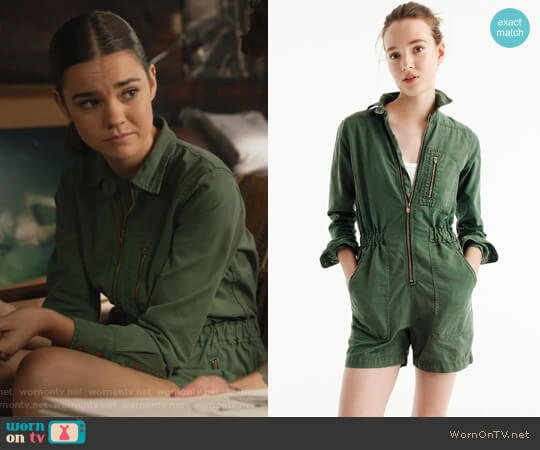 Utility Romper by J. Crew worn by Maia Mitchell on The Fosters