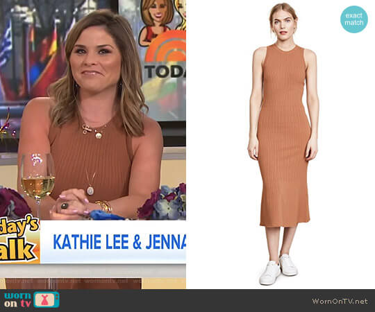 Crew Neck Ribbed Dress by Jason Wu Grey worn by Jenna Bush Hager (Jenna Bush Hager) on Today
