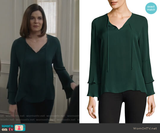 Marnie Bell Sleeves Silk Blouse by Kobi Halperin worn by Heather Hughes (Betsy Brandt) on Life in Pieces