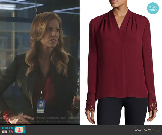 Lucifer Boo Normal: WornOnTV: Charlotte's Red Blouse With Cutout Cuffs On