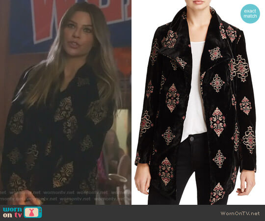 Embroidered Velvet Jacket bu Karen Kane worn by Chloe Decker (Lauren German) on Lucifer