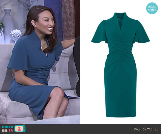 V-Neck Pencil Dress by Karen Millen worn by Jeannie Mai (Jeannie Mai) on The Real