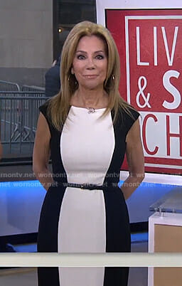 Kathie's black and white colorblock dress on Today