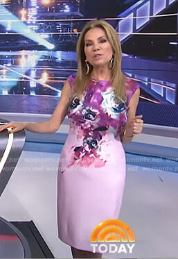 Kathie's pink floral sheath dress on Today