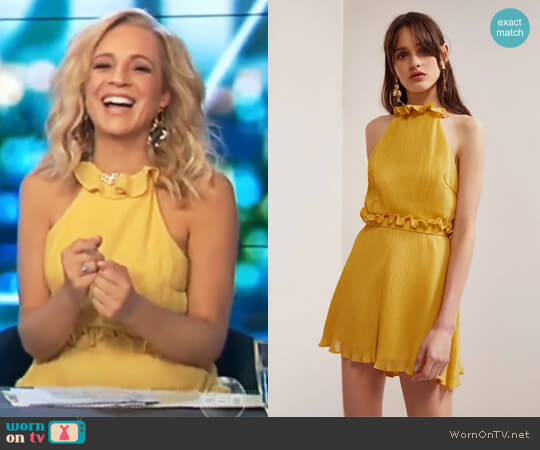 Skylines Playsuit by Keepsake worn by Carrie Bickmore  on The Project