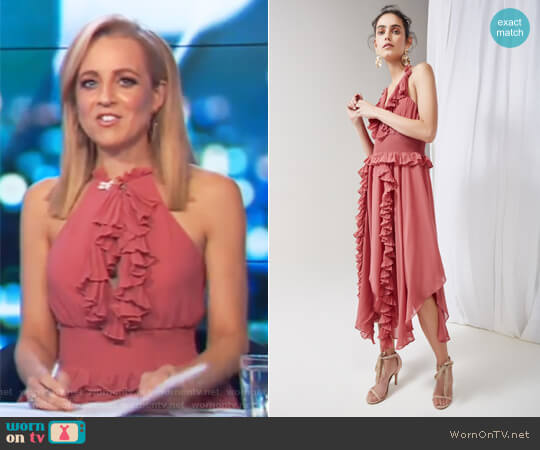 Say Something Dress by Keepsake worn by Carrie Bickmore (Carrie Bickmore) on The Project