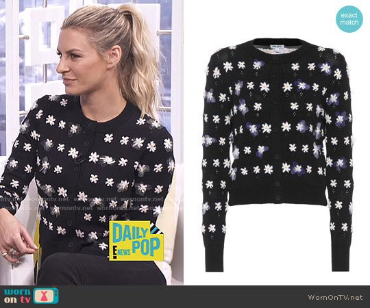 Flower-Embellished Cardigan by Kenzo worn by Morgan Stewart  on E! News