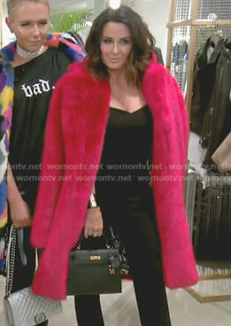 Kyle's red fur coat on The Real Housewives of Beverly Hills