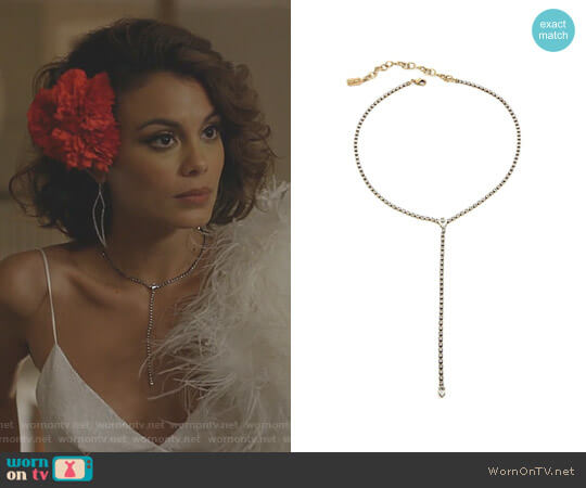 'Bondy' Necklace by Lionette NY worn by Nathalie Kelley on Dynasty