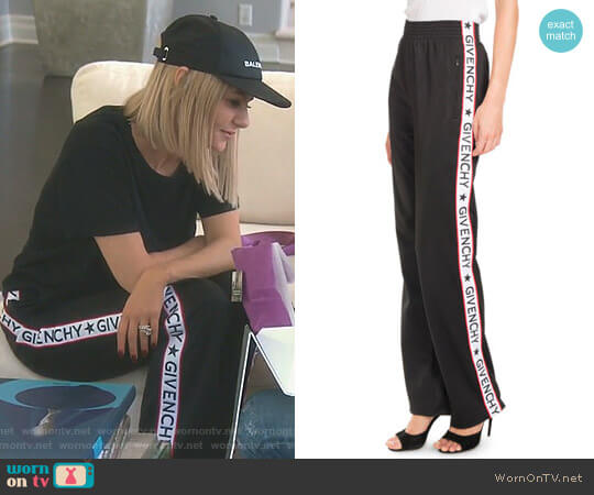 Logo-Tape Pull-On Pants by Givenchy worn by Dorit Kemsley  on The Real Housewives of Beverly Hills