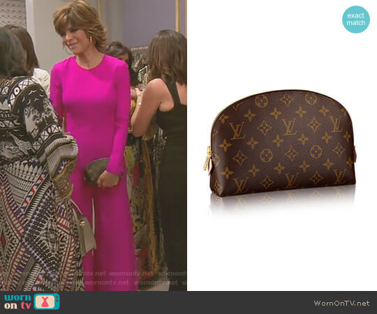 Cosmetic Pouch GM by Louis Vuitton worn by Lisa Rinna on The Real Housewives of Beverly Hills