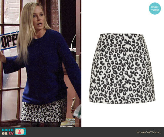 Maje Jazara Skirt worn by Sharon Case on The Young & the Restless