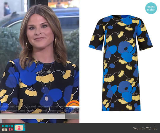 Celeste Printed Dress by Marni worn by Jenna Bush Hager (Jenna Bush Hager) on Today