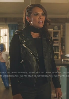 Maze's black studded vest on Lucifer