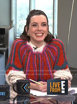 Melanie's multicolored sweater on Live from E!