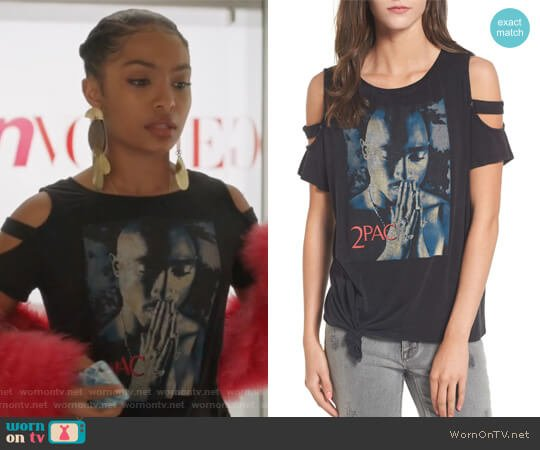 Tupac Tee by Mimi Chica worn by Yara Shahidi on Grown-ish