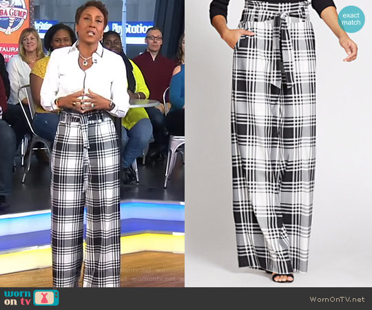 Gabrielle Union Collection Paperbag Waist Pant by New York & Company worn by Robin Roberts  on Good Morning America