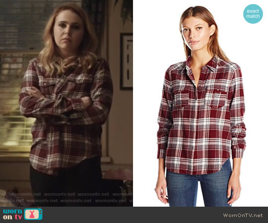 Mya Plaid Shirt by Paige worn by Annie Marks (Mae Whitman) on Good Girls
