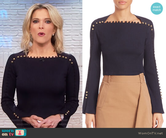 Button Detail Ribbed Top by Phillip Lim 3.1 worn by Megyn Kelly on Today
