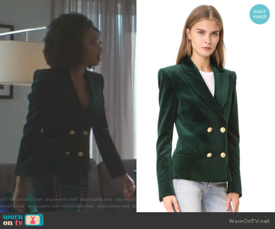 Velvet Blazer by Pierre Balmain  worn by Wakeema Hollis on Dynasty