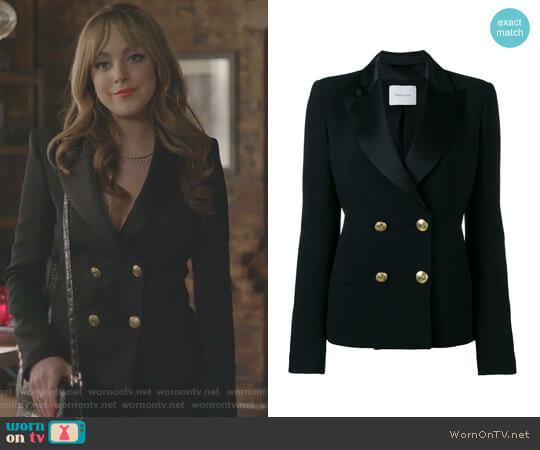 Double Breasted Blazer by Pierre Balmain worn by Elizabeth Gillies on Dynasty