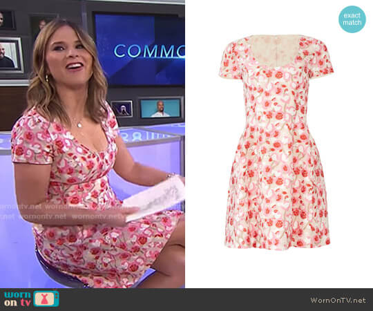 Floral Dress by Prabal Gurung worn by Jenna Bush Hager  on Today