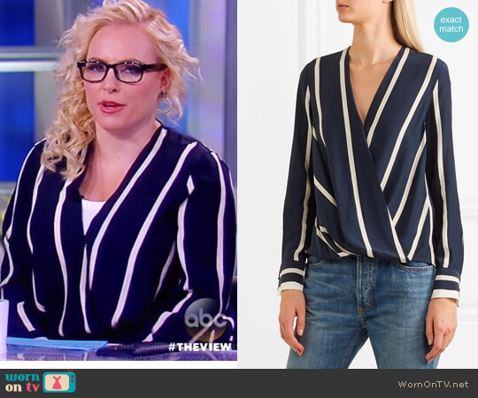 WornOnTV: Meghan's Blue Striped Top On The View
