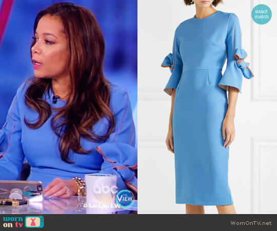 Lavette ruffled crepe midi dress by Roksanda worn by Sunny Hostin on The View