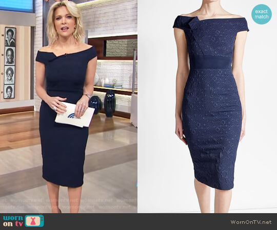 Midi Dress with Cotton by Roland Mouret worn by Megyn Kelly  on Today