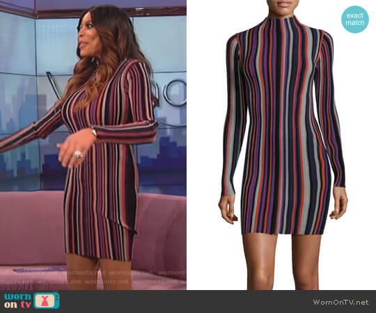 Stripe Sheath Dress by Ronny Kobo worn by Wendy Williams on The Wendy Williams Show