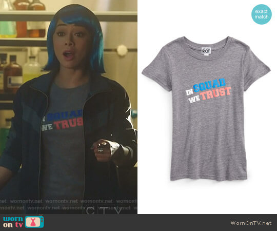 In Squad We Trust Tee by Remove Sub_Urban Riot worn by Ella Lopez (Aimee Garcia) on Lucifer