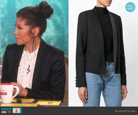Open Front Blazer by Saint Laurent worn by Julie Chen  on The Talk