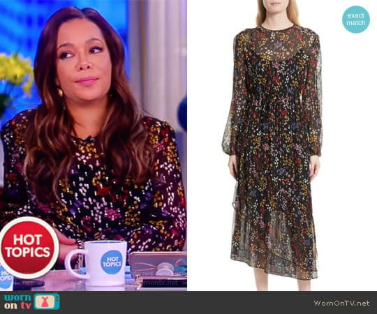 Asymmetric Floral-Print Long-Sleeve Dress by See by Chloe worn by Sunny Hostin  on The View