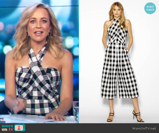 Check Me Out Jumpsuit by Sheike worn by Carrie Bickmore on The Project