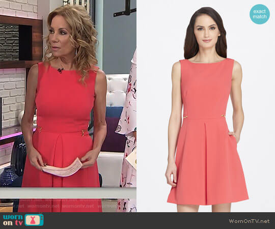 Side-Zipped Fit and Flare Crepe Dress by Tahari ASL worn by Kathie Lee Gifford  on Today