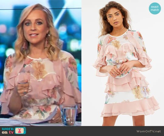 Darcy Mini Dress by Talulah worn by Carrie Bickmore  on The Project