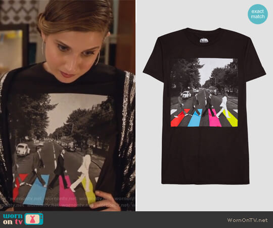 Target Abbey Road Neon T-Shirt worn by Nomi Segal (Emily Arlook) on Grown-ish